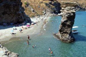 Andros stranden, Griekenland